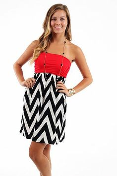 Pump It Up Dress, red/blk/white... LOVE this website!!