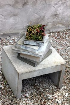 coffee table books - why not 'cement' books for the garden? (seventeendoors)