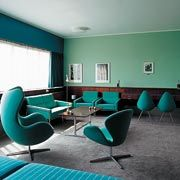 Radissan SAS Royal Hotel in Copenhagen: Room 606 is the only hotel room with the original Arne Jacobsen decor from July 1960.