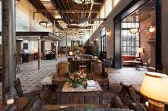 """archatlas: """" Hotel Emma Roman and Williams Submitted by yamandus Images by Craig Washburn via San Antonio Magazine (images and Scott Martin via The Rivard Report (images """" Country Hotel, Texas Hill Country, Hotel Emma San Antonio, Roman And Williams, Choice Hotels, New York Architecture, Kelly Wearstler, Hotel Lobby, Cozy Cottage"""