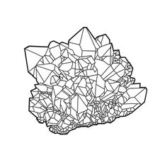 Crystal Cluster Line Drawing. I feel like this one is begging to be purple. What do you think? . . . #lineart #ipadpro #ipadproart #applepencil #digitalart #facet #facets #faceted #cryatal #crystals #coloringbook #colorme #crystallover #crystallove #healingcrystals #metaphysical #wicca #pagan #moonchild #minerals #crystalhealing #crystalgems #crystalcluster