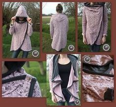 Freebook hooded jacket HAZEL - Delicious Meets Healthy: Quick and Healthy Wholesome Recipes Diy Clothes Videos, Clothes Crafts, Sewing Clothes, Sewing Patterns Free, Clothing Patterns, Sewing Tutorials, Free Sewing, Free Pattern, Fashion Sewing