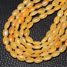 12X8X4MM NATURAL CITRINE GEMSTONE FLAT OVAL BEADS STRAND 15 1/2""