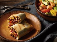 Shredded Beef and Rice Burritos with Fruit and Avocado Salad Recipe from #PublixAprons
