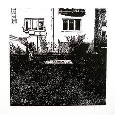 Veľkomoravská 2164-22 [printmaking, cutting into MDF] #printmaking #woodcut #bunker #art #shelters