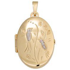 Medaillon Vögel oval für 2 Fotos 333 Gold Gelbgold matt Anhänger zum Öffnen  https://www.ebay.de/itm/Medaillon-Voegel-oval-fuer-2-Fotos-333-Gold-Gelbgold-matt-Anhaenger-zum-Offnen-/162745684272?refid=store&ssPageName=STORE:accessorize24-de