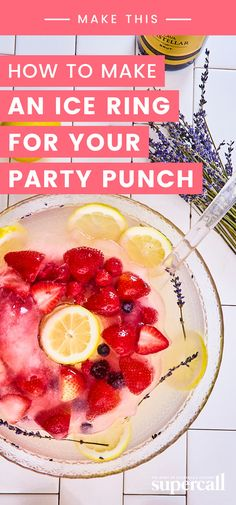 Learn how to make a beautiful ice ring for your homemade punches, along with easy punch recipes. Ice Ring, Easy Punch Recipes, Jungle Juice, Alcoholic Beverages, Party Entertainment, Surface Area, Summer Cocktails, For Your Party, Cocktail Recipes