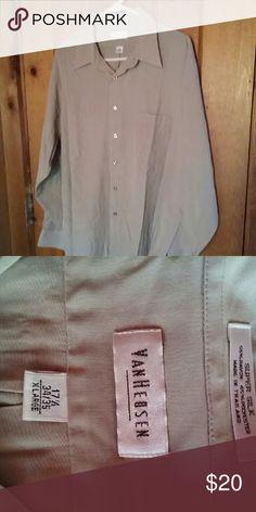 Long sleeve dress shirt Gently used, long sleeve tan dress shirt Van Heusen Shirts Dress Shirts