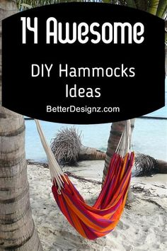 Hammocks are often used for relaxation and leisure. They are also fun and easy to make. Here are 14 awesome DIY hammocks ideas. I want to try Read more: 14 Awesome DIY Hammocks Ideas Hanging Hammock Chair, Hammock Tent, Hammock Ideas, Hanging Chairs, Diy Hanging, Hammock Accessories, Backpacking Hammock, Camping, Funky Home Decor