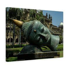 Items similar to Buddah/statue/photo/mumbai/Canvas Gallery Wrap/ Wall art/meditation room on Etsy Buddah Statue, Room Art, Handmade Items, Handmade Gifts, Mumbai, Cyber, Serenity, Buddha, Art Photography