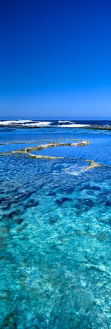 Rottnest reefs and clear ocean water - West End