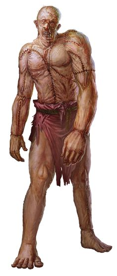 Golem, Flesh (from the D&D fifth edition Monster Manual). Art by Conceptopolis.