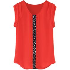 Love the color and graphic design.  Perfect for summer!  I'd love this! Collie Graphic Panel Detail Blouse - $48, Stitch Fix