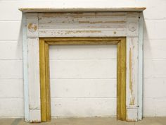 Salvaged Wood Fireplace Mantel - Columbus Architectural Salvage