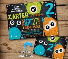 monster birthday invitation monster invitation by JcoInvitations, $10.00