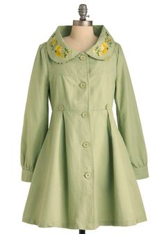 Flower Booth Coat, #ModCloth