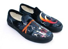 A Day To Remember - Hand Painted Common Courtesy Vans Slip Ons