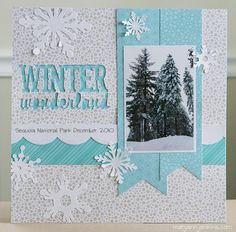Layout: Winter Wonderland - not exactly like this . . .but i like the idea!