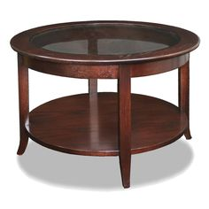 Shop Leick  10037 Favorite Finds Round Glass Top Coffee Table at ATG Stores…
