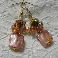 Pink Ice Earrings by marilyn1545 on Etsy, $20.00
