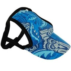 1ee5a5c39d0 Boy dog tiki sun protective hat for your pet. Great idea for summer.