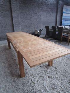 Gescova Deauville-Polo Teak Liverpool Rechthoekige Verlengbare Tafel Teak blad in Teak verlengbaar 220/340 Orbetello Table-escamotable-en-teck-Extendable-Garden-Outdoor-dining-table-gartentisch