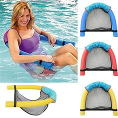 Floating chair New Novelty Bright Color Pool Floating Chair Swimming Pool Seats Amazing Floating Bed Chair Pool Noodle Chair . Floating Lounge Chairs, Pool Chairs, Floating In Water, Floating Island, Swimming Pool Noodles, Swimming Pools, Swimming Gear, Water Hammock, Pool Floats