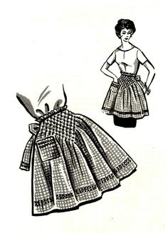 Smocked Hostess Apron 1950s Mail Order P 275 Vintage Sewing Pattern