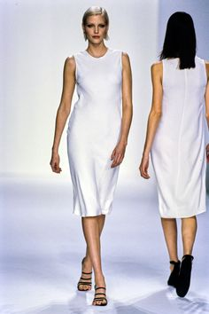 Calvin Klein Collection Spring 1995 Ready-to-Wear Fashion Show - Nadja Auermann
