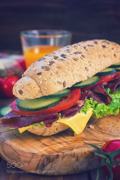 Fresh Submarine Sandwich (Igor Jovanovic / Belgrade / Serbia) #ILCE-6300 #food #photo #delicious