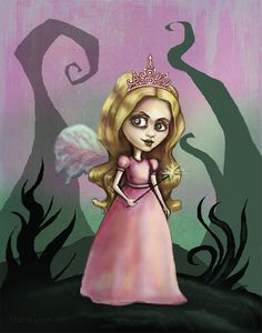 Good Witch of the South-Wizard of Oz-Fairy tale fantasy art print. $15.00, via Etsy.