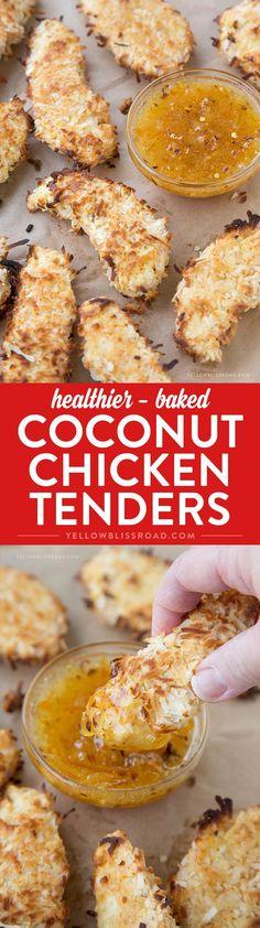 Healthier Baked Coconut Chicken Tenders