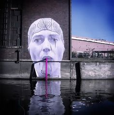 """The Straw"" creative interactive street art"