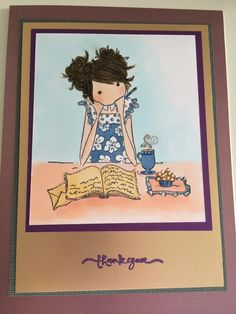 Journal Girl, Stamping Bella Card, done with Copics
