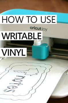 how to use writable vinyl with the cricut joy