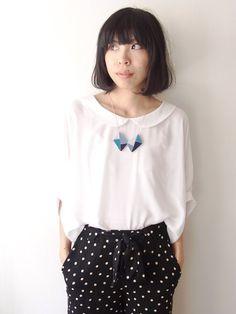 HanaUta Necklace by HOMAKO on Etsy, $35.00