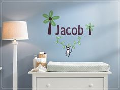 this would be so cute over changing table. to get one in my kids name would be great