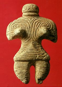 Japanese Figurine,Jomon - Era,Aomori Japan, 1,200 -800 BC.