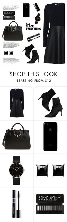 """All black"" by aneetaalex ❤ liked on Polyvore featuring STELLA McCARTNEY, Charlotte Olympia, CLUSE, Witchery, Christian Dior and Chanel"