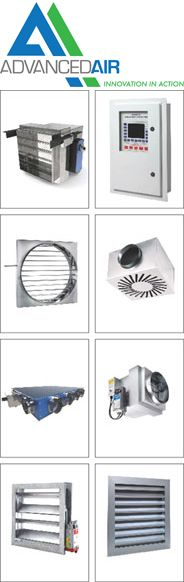 Advanced Air provides the #air #conditioning and #construction industries with practical, no-nonsense air #control and #distribution products such as #Dampers and #EC #Fan #Coils. View more product information: http://www.buildingdesign.co.uk/mech/advanced/advanced.htm
