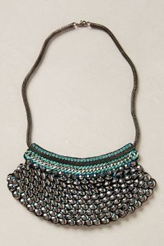 Ranna Gill Moonlette Bib Necklace. Beautiful Statement necklace for all day and night looks.#anthrofave #anthropologie