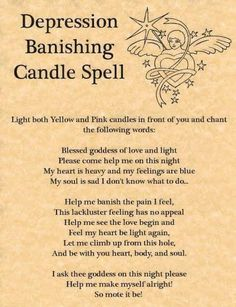 Depression & Wicca – The Crafty College Wiccan Witchcraft Spells For Beginners, Healing Spells, Wiccan Spells, Candle Spells, Real Spells, Pagan Witch, Magic Spell Book, Witch Spell Book, Witchcraft Spell Books