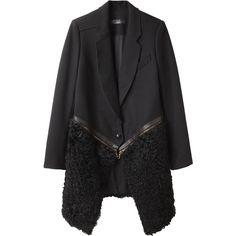 Proenza Schouler Shearling Zip Coat found on Polyvore