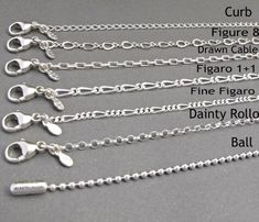 Italian Solid Sterling Silver Fancy Figaro Link Chain 120-5MM Nickel Free Necklace with Lobster Claw Clasp Closure