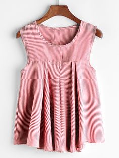Shop Pinstripe Pleated Sleeveless Top online. SheIn offers Pinstripe Pleated Sleeveless Top & more to fit your fashionable needs.