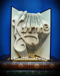 Karma Book Folding Pattern (Combination Cut and Fold) pdf bookart unusual gift by BlushBookDesign on Etsy