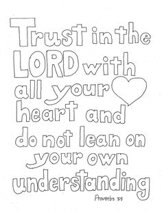 Coloring Pages for Kids by Mr. Adron: Trust In The Lord Scripture ...