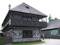 Čičmany: Slovakia's painted village Eastern Europe, Cabana, Folk Art, Art Projects, Exterior, Country, House Styles, Gallery, Building