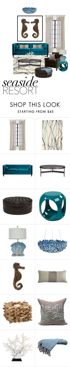 """""""Seaside Resort"""" by ittie-kittie ❤ liked on Polyvore featuring interior, interiors, interior design, home, home decor, interior decorating, CB2, Brink & Campman, Flamant and Bernhardt"""
