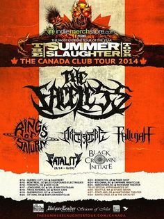 "NEWS: The death metal band, The Faceless, has been announced as the headliner for the ""Summer Slaughter Tour: The Canada Club Tour."" They will be joined by Rings of Saturn, Archspire, Fallujah, Fatality and Black Crown Initiate. You can check out the dates and details at http://digtb.us/1lqUHSL"